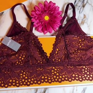 aerie Intimates & Sleepwear - ❤️Aerie Maroon Triangle Bralette NWT